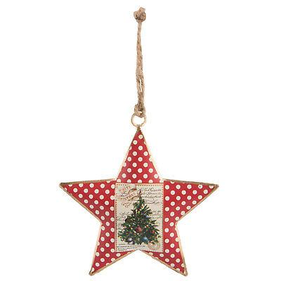 Clayre Eef Weihnachten  Deko Weihnachtsschmuck Weihnachtsmann Rentier 12*3*13 cm