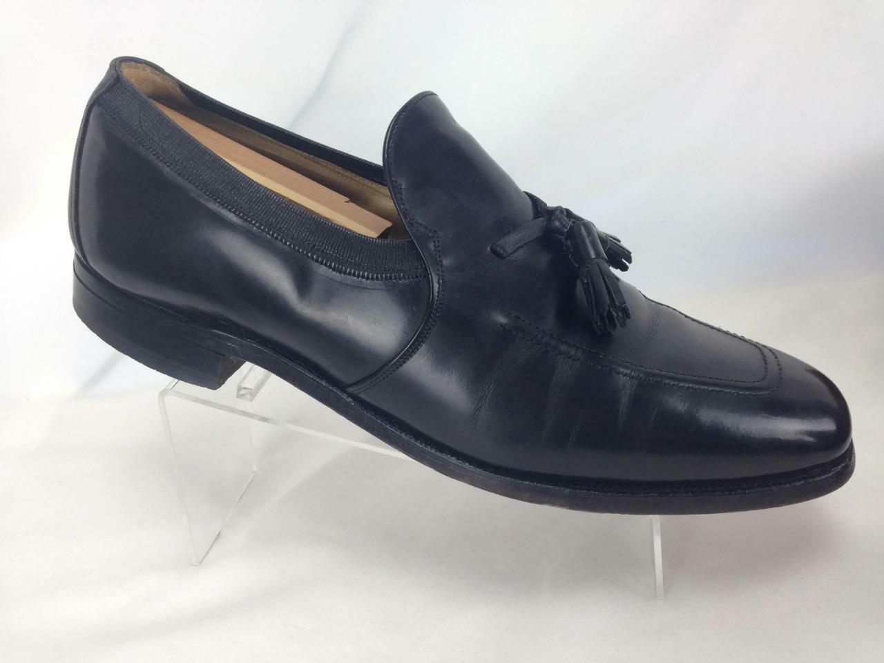 Johnston & Murphy Shoes Men's Black Leather Dress Shoes Murphy Sz 10 Tassel Loafers  #B499 abb92a