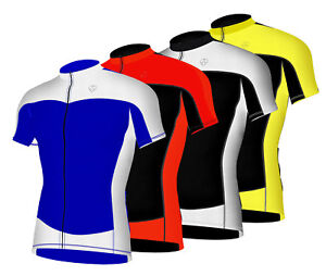 Uomo-Ciclismo-Mezza-Manica-Maglia-Traspirante-Leggero-Bicicletta-Corta