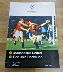 1997 MANCHESTER MAN UTD UNITED V BORUSSIA DORTMUND CHAMPIONS LEAGUE SEMI-FINAL