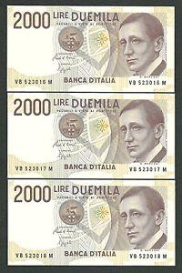 Italy-Lire-2-000-x-1-FDS-ass-gem-UNC-MARCONI-Let-034-B-034-Decr-06-03-1992