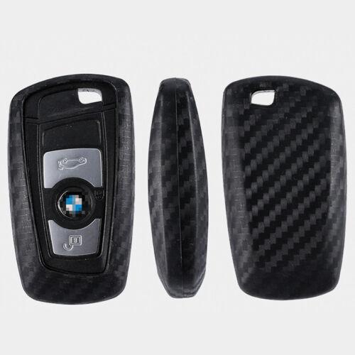1PCS Car Key Case Carbon Fiber Accessories For BMW 3 5 Series
