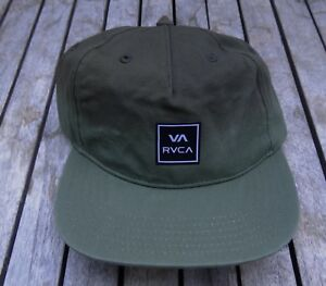 141a8336 NEW RHTRVC-285 RVCA TEAM DIP GREEN OLIVE MENS SPORT STRAPBACK HAT   eBay