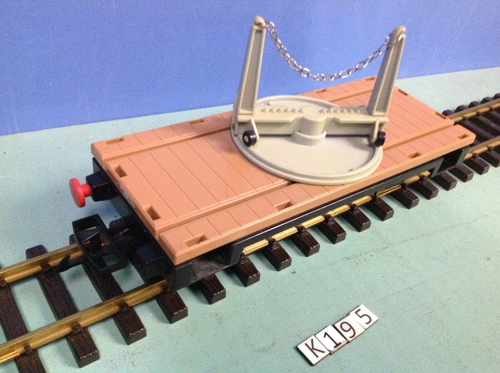 (K195) playmobil Wagon train porte poutre ref 4109