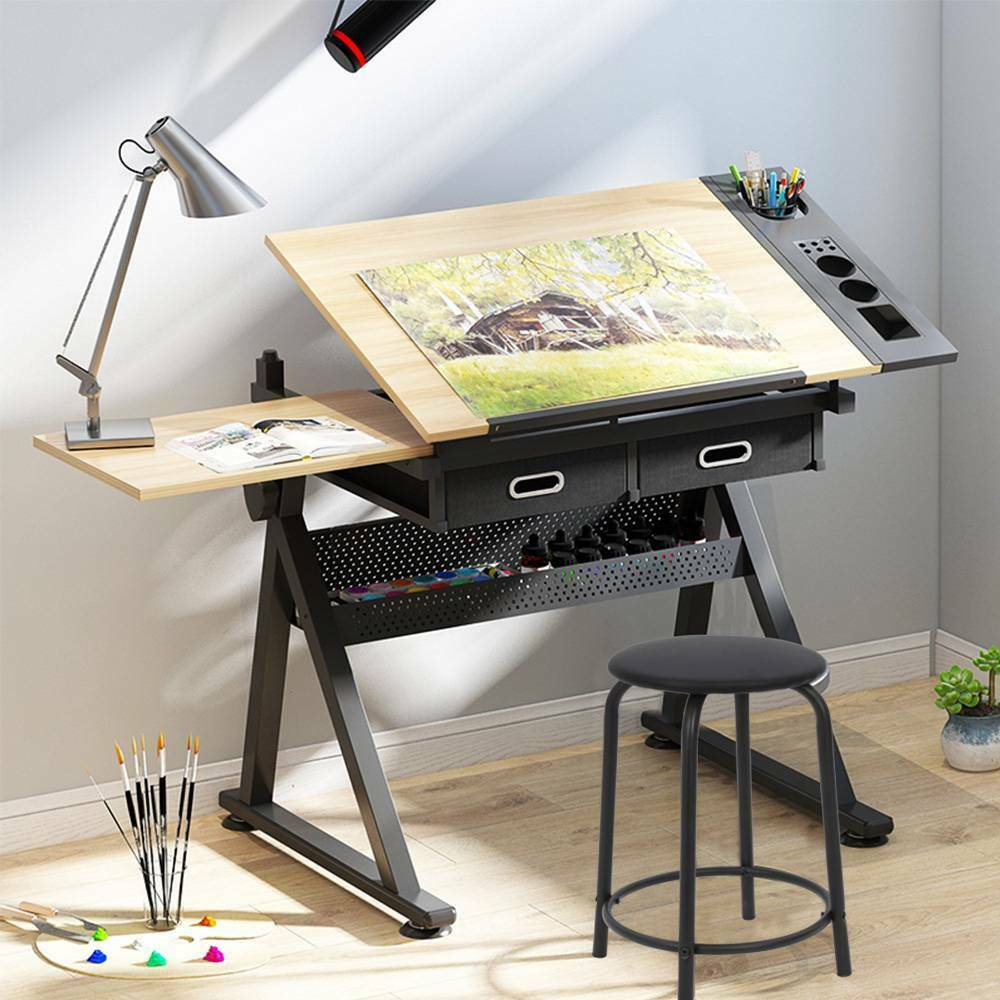 adjustable drafting table drawing craft art hobby board home office kid s desk