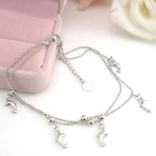 Fashion 2016 Cheap Dolphin Women bracelet foot ankle chain  jewelry Gift $TCA