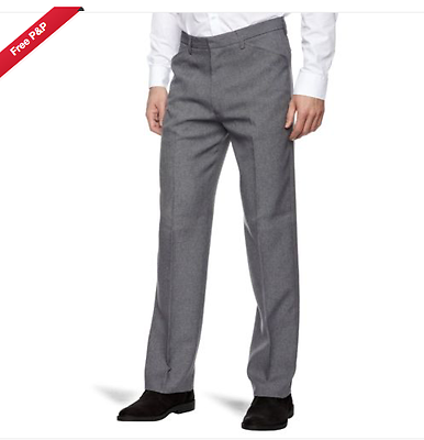 dgy Liberal Farah® Frogmouth Hopsack Trousers/grey 34/31 Srp £45.00 Einfach Zu Verwenden