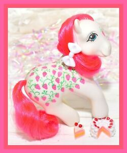 My-Little-Pony-MLP-G1-Vtg-Twice-as-Fancy-Sugarberry-TAF-Strawberry-Fair