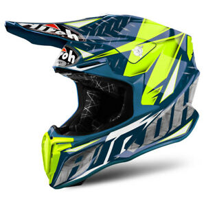 AIROH-TWIST-Iron-Blu-Gloss-Casco-Fuoristrada-Motocross-Enduro-Mx-Offroad