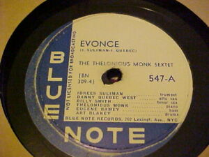 Blue-Note-574-Jazz-78-Thelonious-Monk-Trio-034-EVONCE-034-034-OFF-MINOR