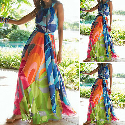 Kleider Kleid Maxi Strandkleid Frau Mehrfarben Cover Up Maxi-kleid 110176