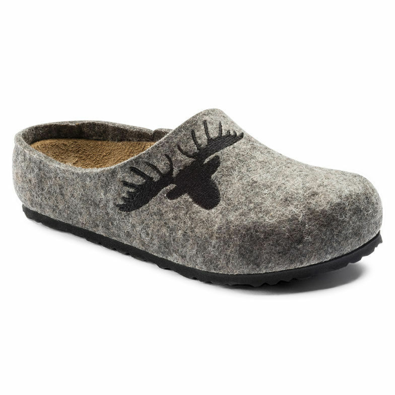 Birkenstock Clogs kaprun Gray elk lana tamaño 35,36,37,38,39 plantilla estrecho
