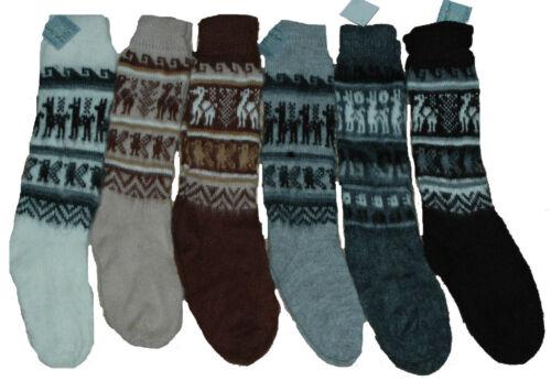 Commercio equo peruviano Soft Alpaca Lana Caldi Invernali Calze Spesse Taglia 4-9 Stile Hippy 186