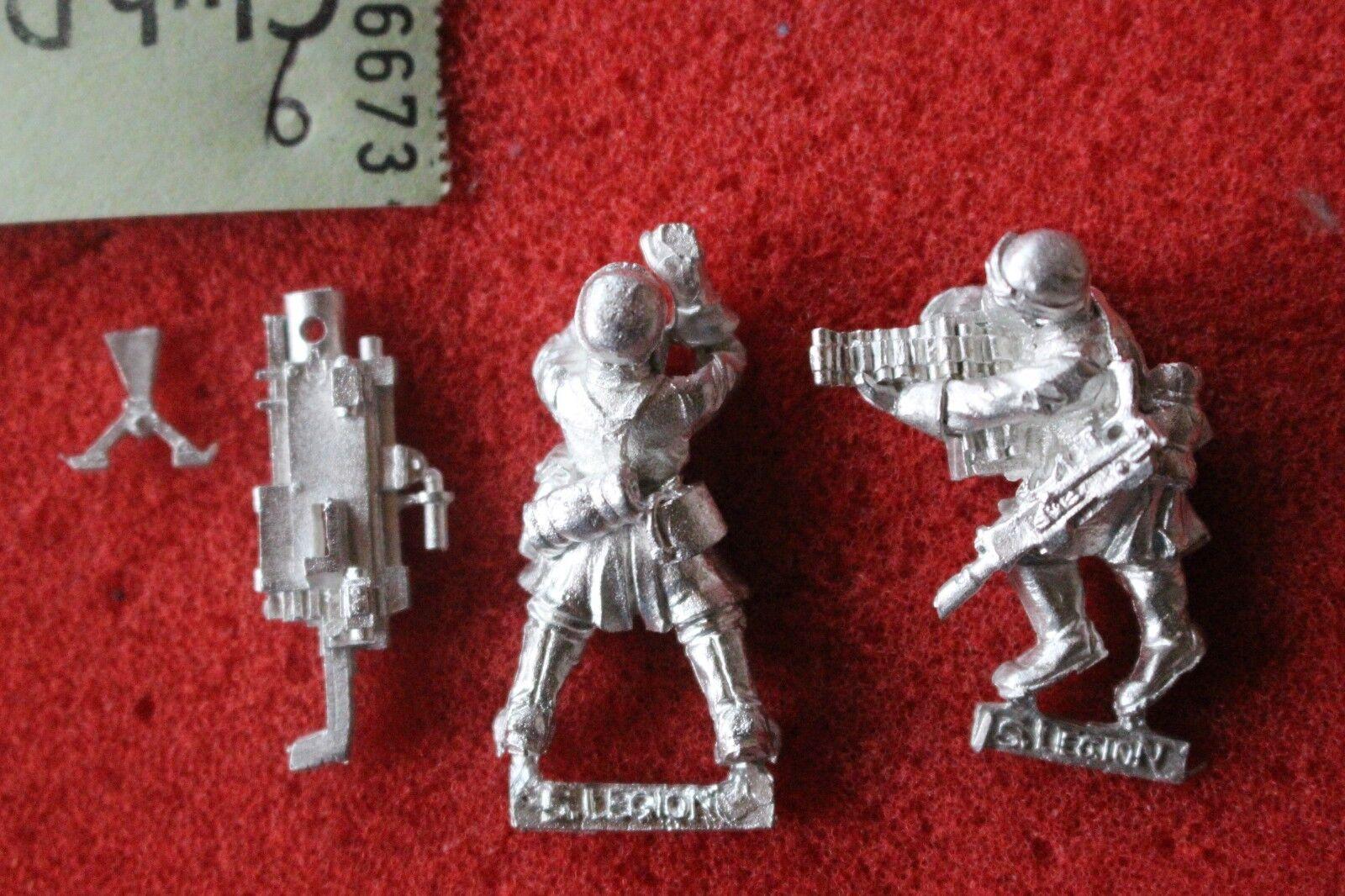 Games Workshop Warhammer 40k Steel Legion Heavy Bolter Team New Astra Militarum