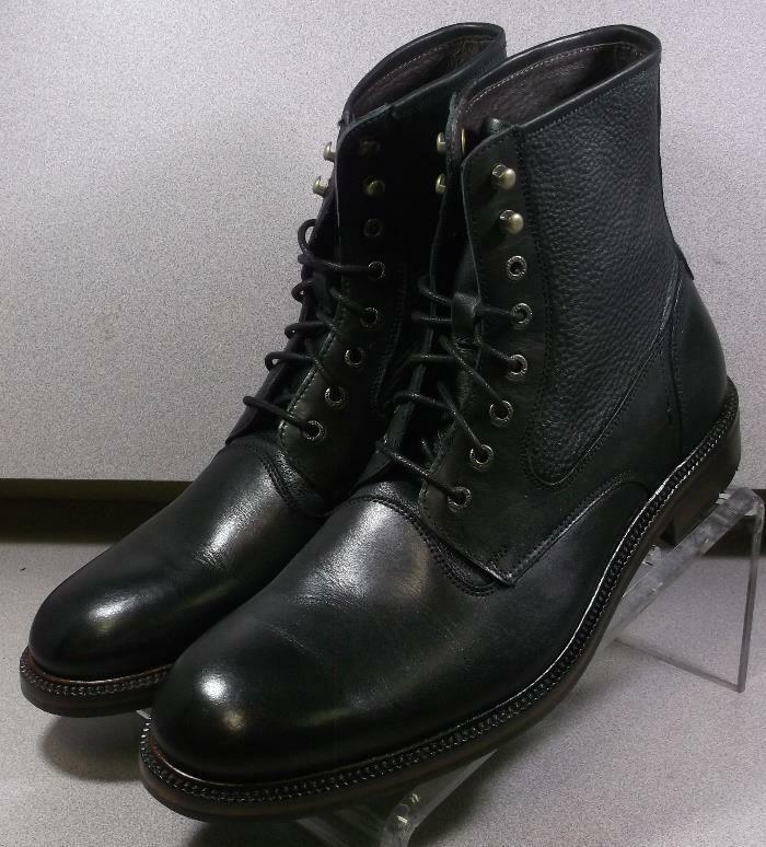 202981 msbt 50 Chaussures Hommes Taille 9 m Noir Bottes en cuir Johnston & Murphy