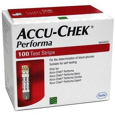 Accu Chek Performa 100 Test Strips for Blood Sugar Glucometer Exp - Jan / 2018