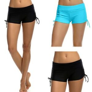 af88996414 Image is loading Women-Sports-Shorts-Bikini-Swimming-Beach-Swimwear-Lady-