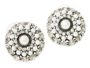 Ohrringe-gross-Ohrstecker-rund-Stecker-Ohrringe-Strass-Steine-kleine-kunstl-Perlen