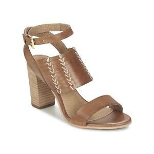 Ladies-Ravel-Lenox-Summer-Dress-Heel-Sandals-Halter-Strap-Brown-Leather-UK-3