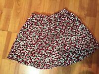 Lands' End Girls Sz. 6x Corduroy Floral Fall Skirt - EUC!