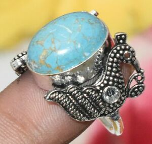 Blue Copper Turquoise Ring Size 7