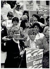 1992 Original Photo Joan Menard speaks at Bill Clinton & Al Gore campaign event