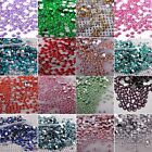 1000 Crystal Flat Back Rhinestones Gems Diamante Bead Nail Art Crafts 3 4 5 mm