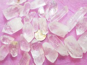 1-2-lb-Pound-Natural-Clear-Quartz-Point-Crystal-Raw-Reiki-Grid-Jewelry-Wire-Bulk