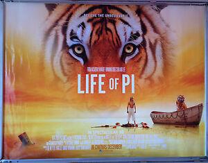 Cinema Poster Life Of Pi 2012 Advance Quad Suraj Sharma Adil Hussain Ang Lee Ebay