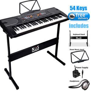 Electronic-Digital-Piano-Organ-Keyboard-incl-Stand-Beats-Demos-Perc-Rec-Play