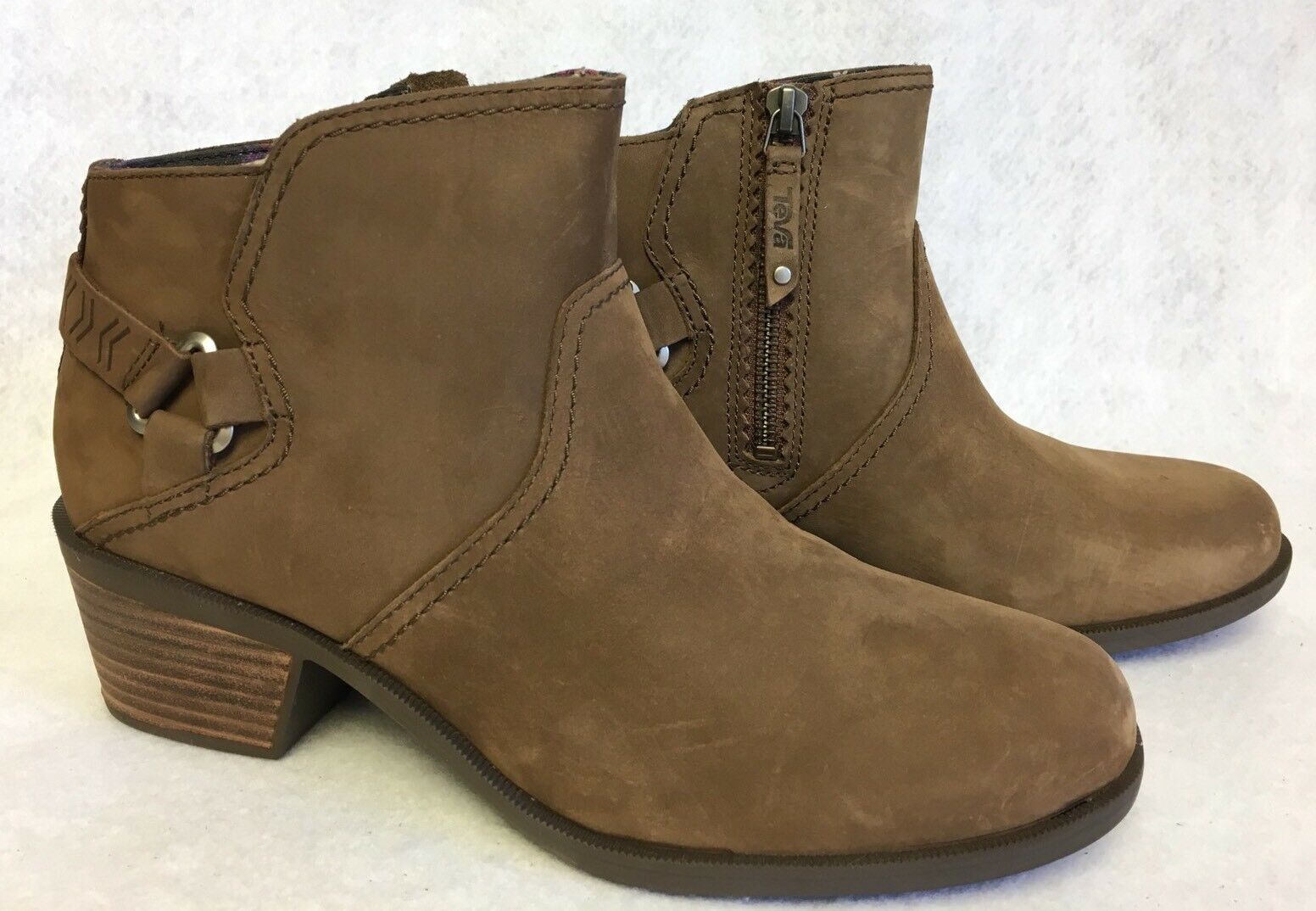 TEVA FOXY Bison braun LEATHER ANKLE damen STACKED HEEL Stiefel Stiefelies 1008317