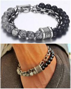 Bracciale-catena-acciaio-uomo-con-pietra-dure-in-onice-nero-da-braccialetto