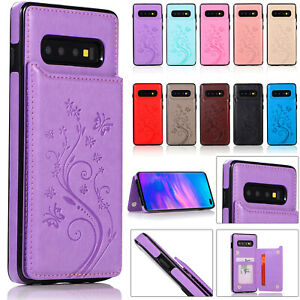 Case Cover For Samsung Galaxy S10e S9 S8 Plus S7 Magnetic Leather Wallet Phone