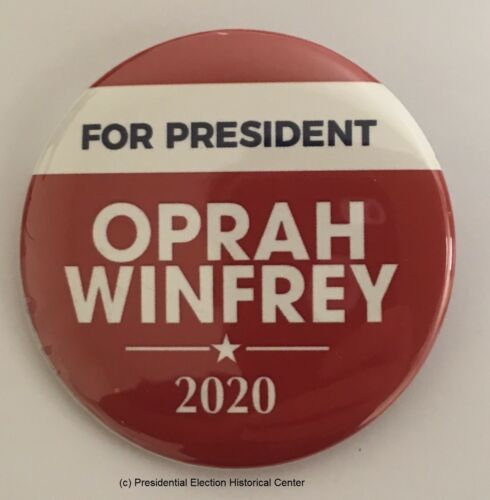 For President Red and White Oprah Winfrey Campaign Button OPRAH-704