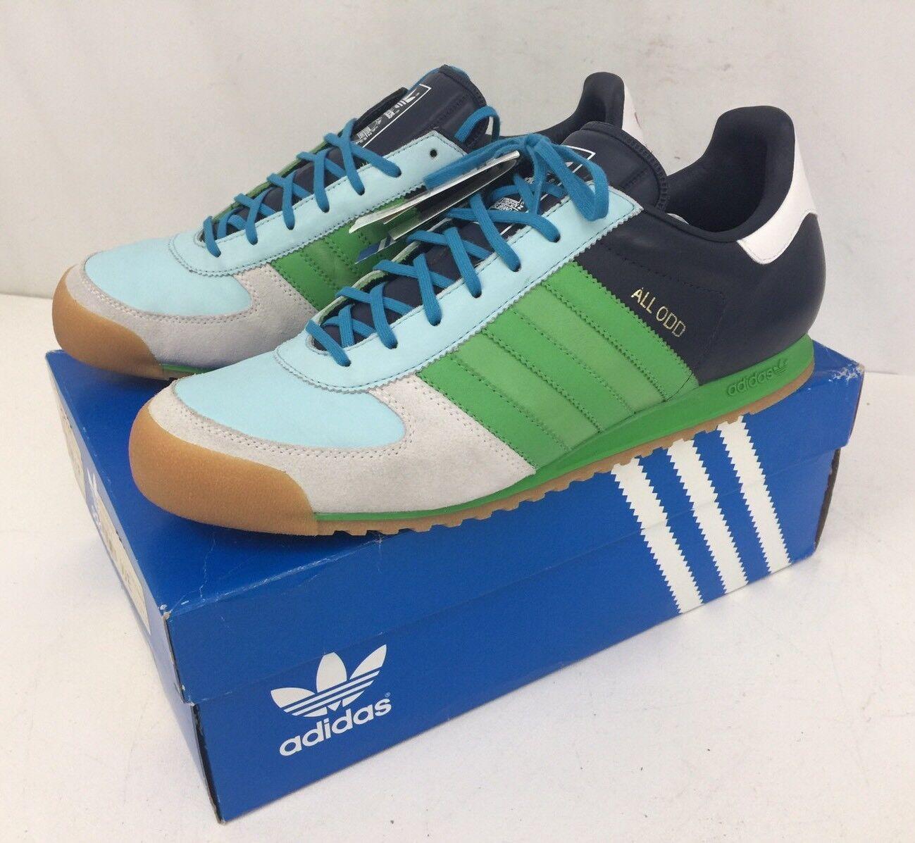 Vtg 807014 Rare Adidas All Black 807014 Vtg All Odd Mens 13 Mint In Box Original Shoes 51107d