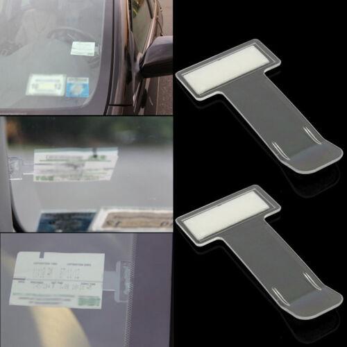 2pcs Car Vehicle Windscreen Park Parking Ticket Clip Work Pass Holder Gadget Hot
