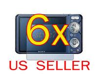 6x Sony Camera Cybershot Dsc- W290 W330 Clear Lcd Screen Protector Guard