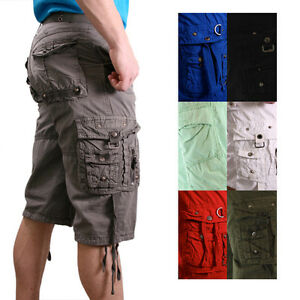 Moda Essentials Men's Belted Jetlag Cargo Shorts Long | eBay
