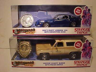 STRANGER THINGS Hopper/'s 1980 Chevy Blazer Diecast Car 1:24 Jada 8 inch w Badge
