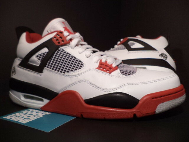Nike Air Jordan IV 4 Retro WHITE MARS FIRE RED BLACK CEMENT GREY 308497-162 13