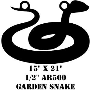 AR500 Steel 15 x 21 x 1/2 Garden Snake Target Hunting Practice Serpent Viper