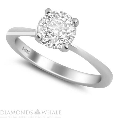 Round Solitaire Enhanced Diamond Ring 0.45 CT SI1 D White gold 14K Engagement
