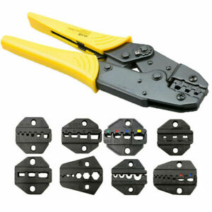Automatic-Cable-Wire-Striper-Cutter-Stripper-Crimper-Tool-Plier-8x-Jaw-kit