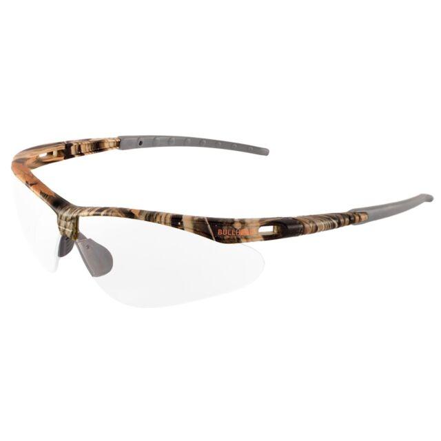 Bullhead Stinger Safety Glasses With Clear Anti-fog Lens Camo Frame ...