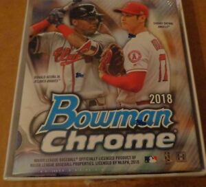 2018-Bowman-Chrome-Baseball-Hobby-Mini-Box-Sealed-6-Packs-1-Auto-Acuna-Ohtani