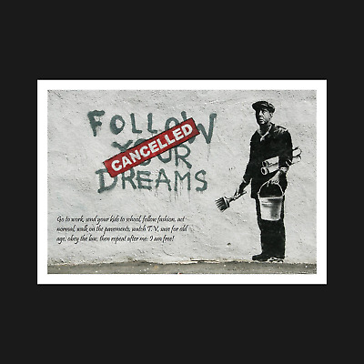 Wall Art Decor A5 A4 A3 Banksy Print // Poster Peace /& War