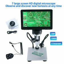 7 Lcd 1080p Digital Microscope 1 1200x Zoom Video Magnification Camera Amp Remote