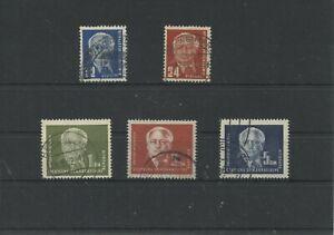 Germany-GDR-vintage-yearset-1950-Mi-251-255-Postmarked-Used-More-Sh-Shop-1