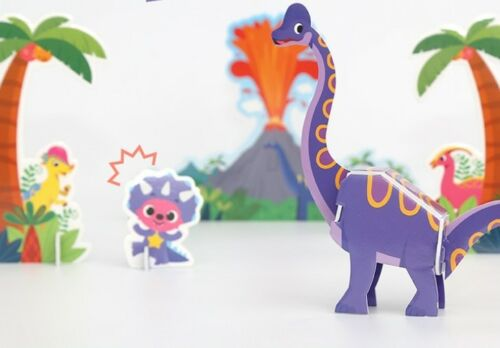 Pinkfong Three-dimensional Creation Making Play Toy Dinosaur Age Shark Family