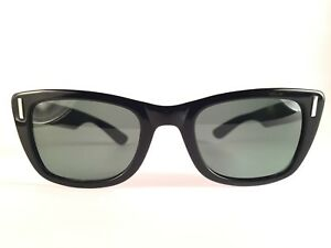 544ecd3d3 Details about VINTAGE RAY BAN BOB DYLAN SLEEK BLACK G15 GREY LENS 1960 B&L  SUNGLASSES